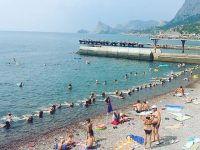 Пляж пансионата.