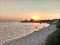 вечерний пляж Оленевка Солнечная долина